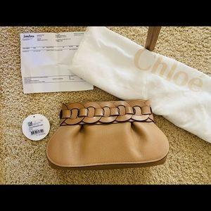 NWT Chloe Darryl Small Braided Ring Clutch Bag